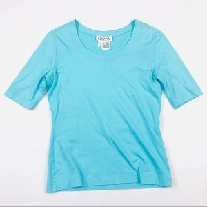 Escada baby blue shirt